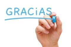 Gracias-Blau-Markierung stockfotografie