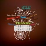 Gracias cart Fotos de archivo libres de regalías