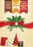 Gracias la Navidad del negocio y Año Nuevo Imagen de archivo libre de regalías