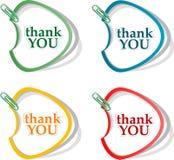 Gracias - las burbujas agradecidas. Vector Imagenes de archivo