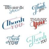 Gracias las letras Ilustración del vector Imagen de archivo libre de regalías