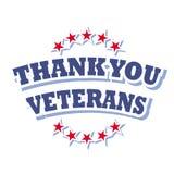 Gracias los veteranos Foto de archivo libre de regalías