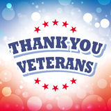 Gracias los veteranos Foto de archivo