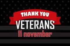 Gracias los veteranos 11 de noviembre U S Un fondo del día de veteranos ilustración del vector