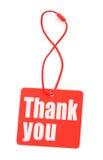 Gracias marcar con etiqueta Fotografía de archivo libre de regalías