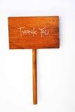 Gracias mensaje Fotos de archivo libres de regalías