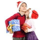 Gracias por el regalo Papá Noel Imagenes de archivo