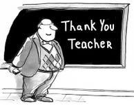 Gracias profesor stock de ilustración