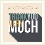 Gracias tarjeta de felicitación Fotografía de archivo libre de regalías