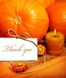 Gracias, tarjeta de felicitación de la acción de gracias Foto de archivo