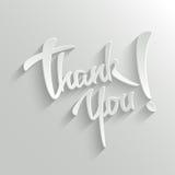 Gracias tarjeta de felicitación de las letras ilustración del vector