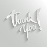 Gracias tarjeta de felicitación de las letras Imágenes de archivo libres de regalías