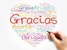 Gracias (Thank You in Spanish) love heart