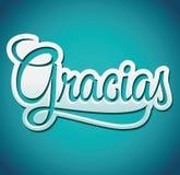 Gracias - Thank you spanish text - lettering Stock Photos