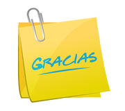 gracias. thanks in spanish post sign message Stock Photo