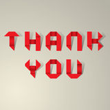Gracias vector de las letras de la cinta Fotos de archivo libres de regalías