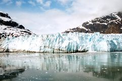 Gracier w Alaska fotografia stock