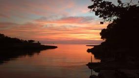 Gracio de cala de coucher du soleil d'Ibiza Photos libres de droits