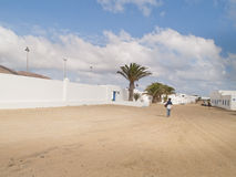 Graciosa island,Spain, urban view. Stock Photos