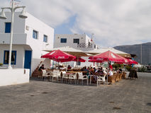 Graciosa island,Spain, urban view. Royalty Free Stock Photo