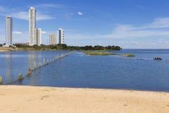 Graciosa strand i Palmas Tocantins arkivbild