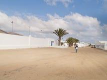 Graciosaeiland, Spanje, stedelijke mening. Stock Foto's