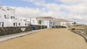 Graciosaeiland, Spanje, stedelijke mening. Stock Fotografie