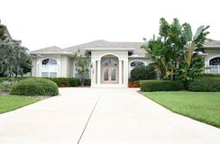Gracious Home with Coral Door royalty free stock photo