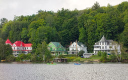 Gracious homes in the adirondacks Stock Images