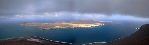 Gracious island. Panoramic of gracious island in lanzarote, canary islands stock photo