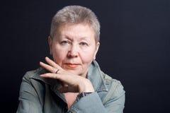 Gracious senior lady Stock Photo