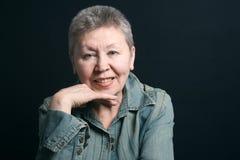 Gracious senior lady Stock Photos