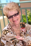 Gracious senior lady Stock Images