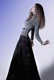 Gracious tall skinny woman Royalty Free Stock Image