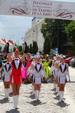 Gracja军乐队女队长小组 库存照片