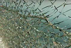 Gracked Glass Stock Image