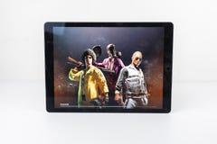 Graczów poly bitwy PUBG iPad Niewiadomy Mobilny iPhone Zdjęcia Royalty Free