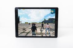 Graczów poly bitwy PUBG iPad Niewiadomy Mobilny iPhone Obraz Stock