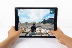 Graczów poly bitwy PUBG iPad Niewiadomy Mobilny iPhone Fotografia Stock