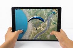 Graczów poly bitwy PUBG iPad Niewiadomy Mobilny iPhone Obraz Royalty Free