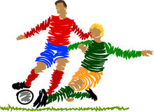 gracz abstrakcjonistyczna piłka nożna royalty ilustracja