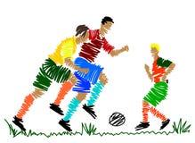 gracz abstrakcjonistyczna piłka nożna Zdjęcie Stock