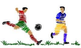 gracz abstrakcjonistyczna piłka nożna ilustracja wektor
