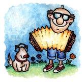gracz akordeonu ilustracja wektor