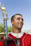 Gracz Baseballa Z trofeum Obrazy Royalty Free