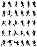 gracz futbolowe ilustracyjne sylwetki ilustracji