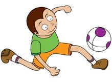 Gracz Futbolu - Bieg po piłki ilustracja wektor