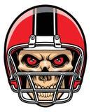 Gracz futbolu czaszka Obraz Royalty Free