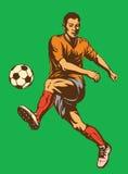 gracz futbolu piłka nożna Ilustracja Wektor