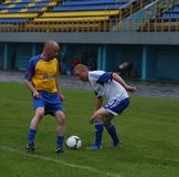 Gracz futbolu Vladimir Beschastnykh №11 Obrazy Royalty Free